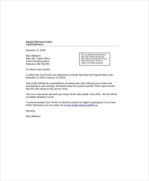 sample recommendation letter for colleague