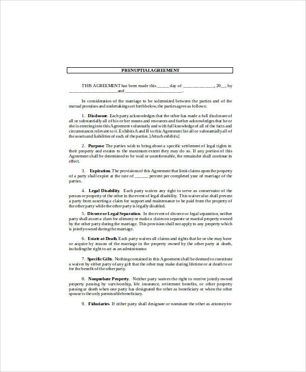 Sample Agreement Form   Examples In Word Pdf