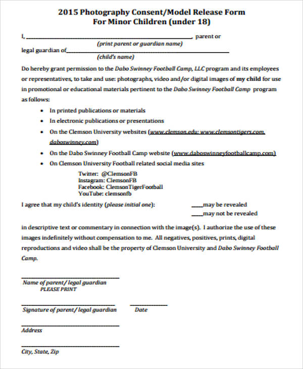 standard model release form template - 9 sample model release forms in pdf sample templates
