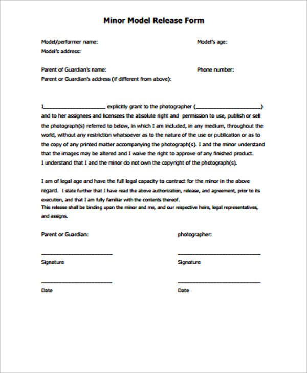 Model release form template slr lounge for Standard model release form template
