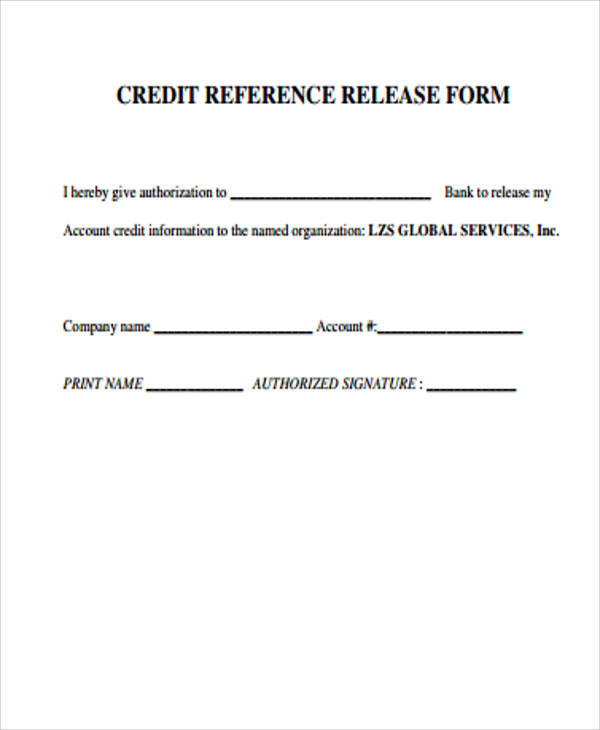 Sample Credit Release Form   Examples In Word Pdf