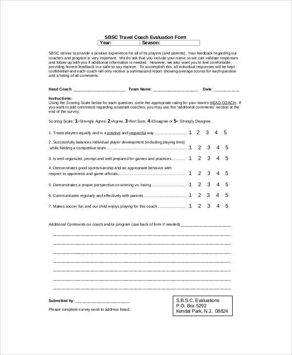 Sample-Soccer-Coach-Feedback-Form Sample Coaching Application Form on us passport renewal, business credit, u.s. passport, for matron job, auto loan, german schengen visa, car loan,
