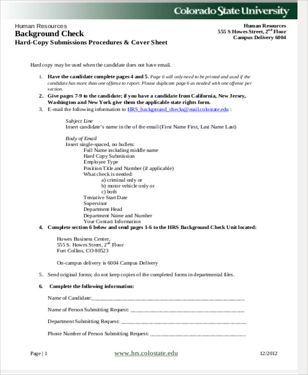 Sample Background Check Release Form - 8+ Examples In Word, Pdf