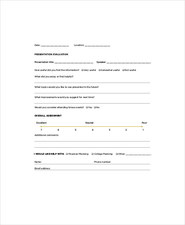 event feedback form in pdf - novasatfm.tk
