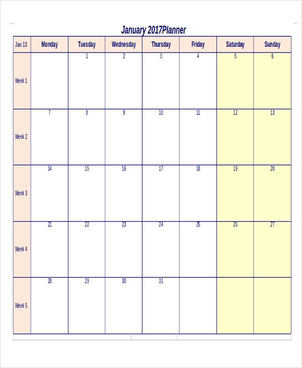 printable monthly priority calendar