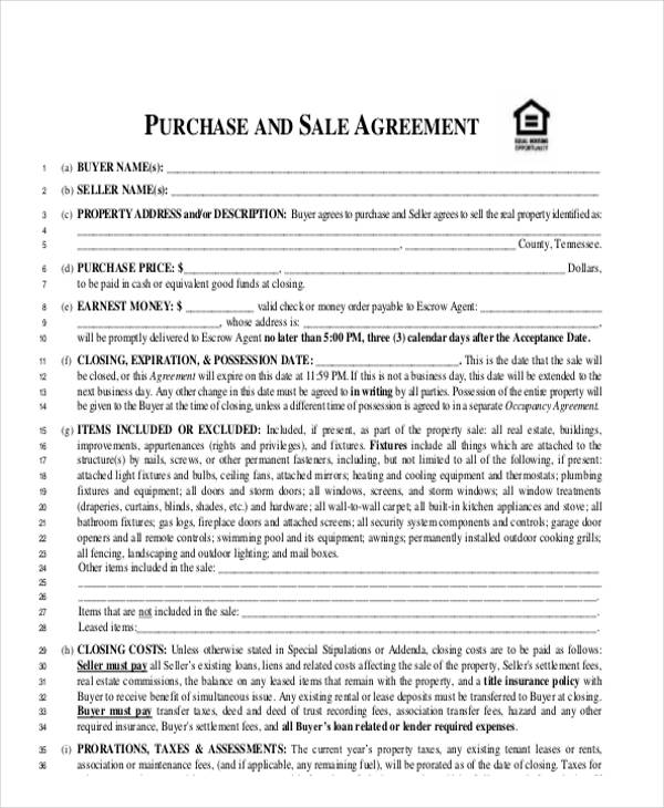 House Sales Contract Template  Resume Ideas  NamanasaCom