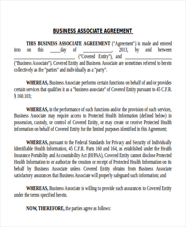9 Business Agreement Samples