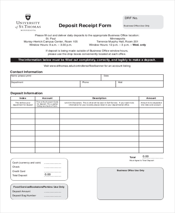 Down Payment Receipt Sample   Examples In Word Pdf