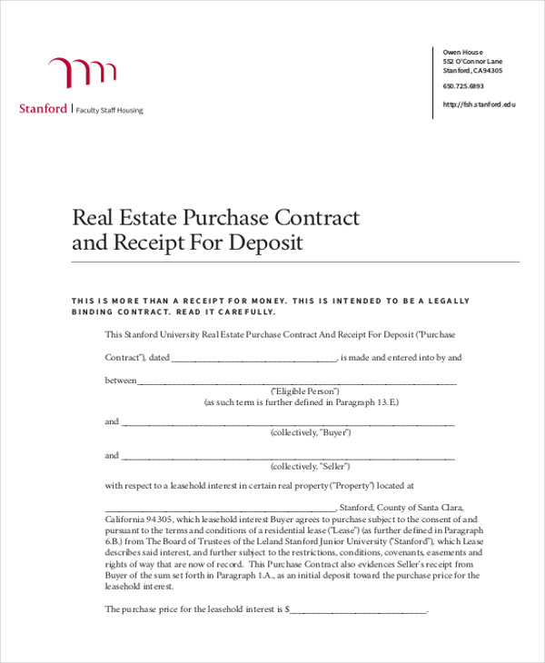Down Payment Receipt Sample 9 Examples in Word PDF – Down Payment Receipt