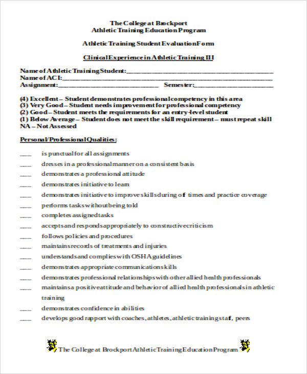 Sample Trainer Evaluation Form 9 Examples In Word Pdf