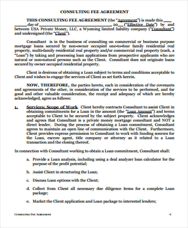 Simple Consulting Agreement Samples   Examples In Word Pdf