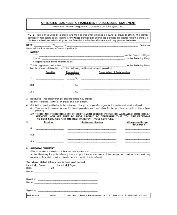 Free Sample Business Agreement Form   Examples In Word Pdf
