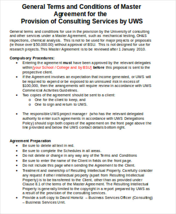 Master Consulting Agreement Basic Master Consulting Agreement