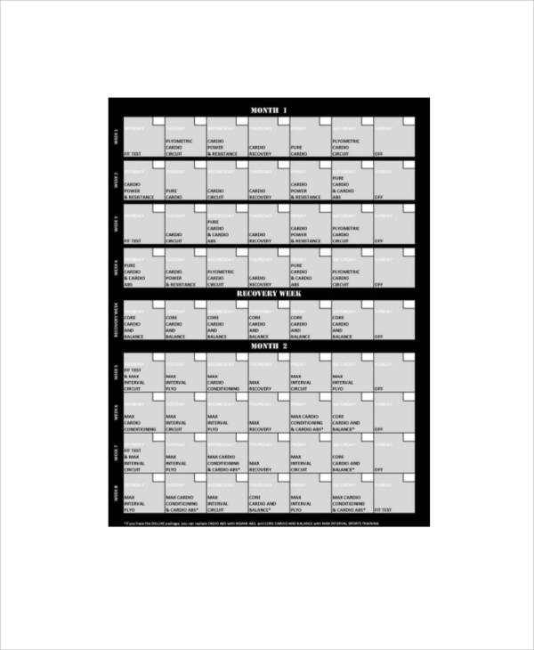 Sample Workout Log Sheet   Examples In Word Pdf