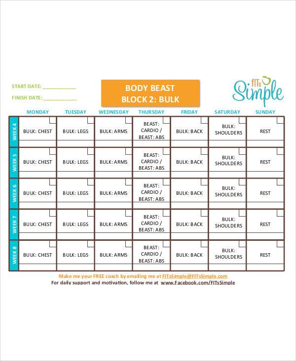 body beast workout sheets pdf