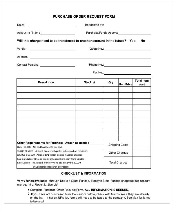 Simple Order Form 9 Examples in Word PDF – Simple Purchase Order Form