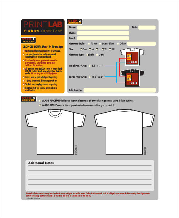 free printable t shirt order form1