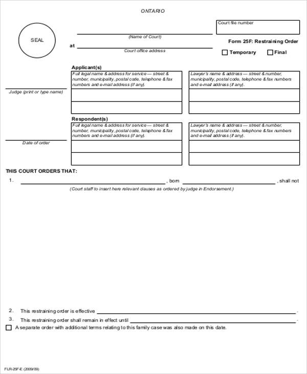 Printable Order Form Sample - 10+ Examples In Word, Pdf