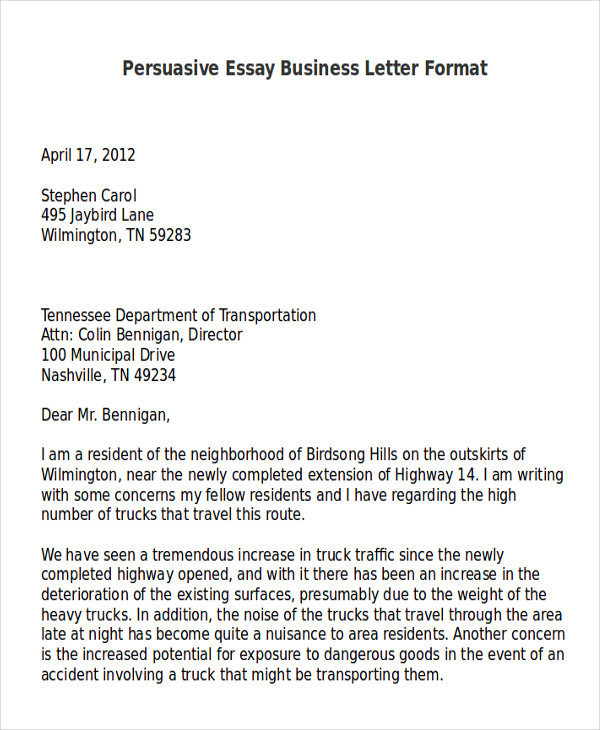 7+ Sample Persuasive Business Letters