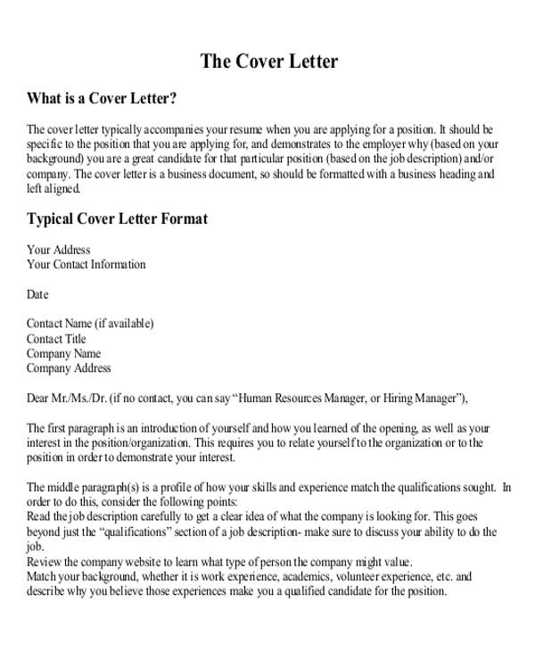 sample business letter layout