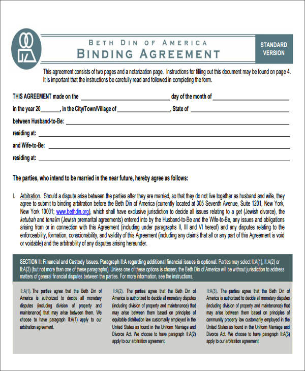 standard prenuptial agreement