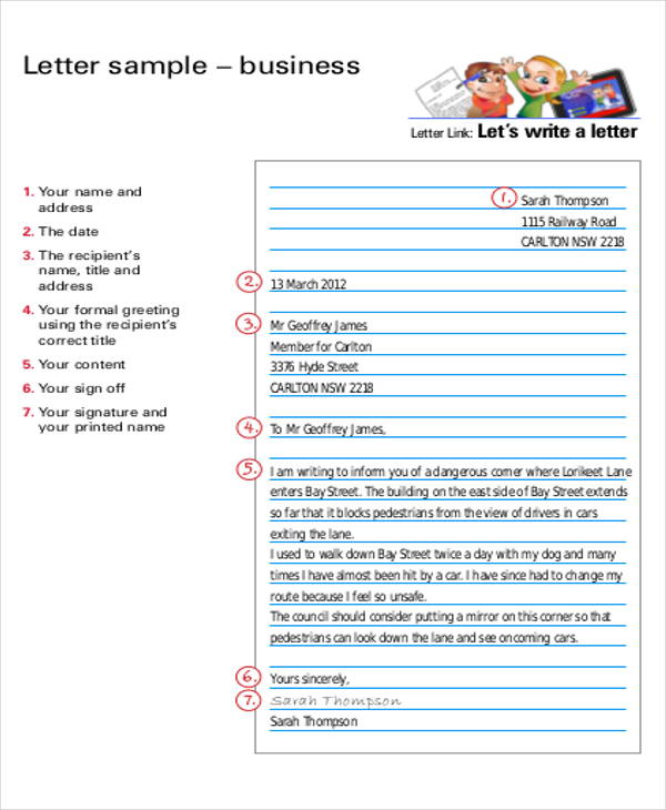 Business Letter Layout Pictures To Pin On Pinterest