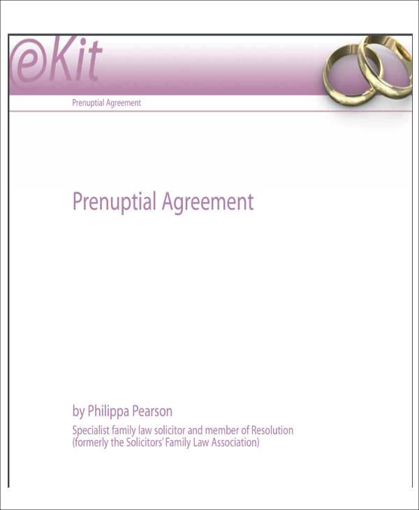 prenuptial separation agreement