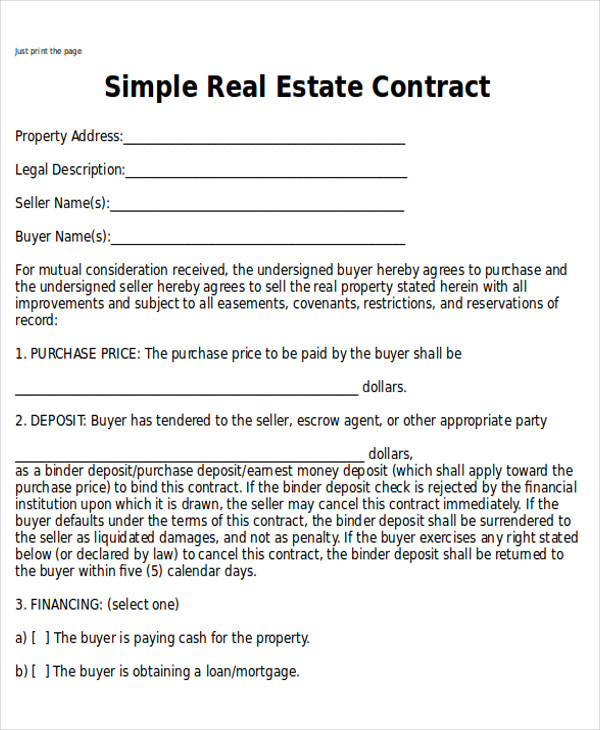 Sample Home Sales Contracts   Examples In Word Pdf