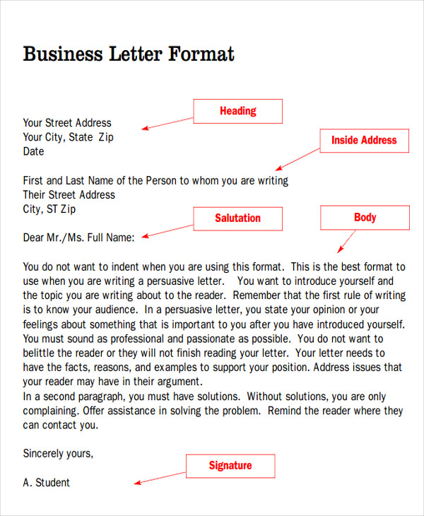 Addressing Business Letter.Sample Business Letter Salutation 5 Examples In Word Pdf