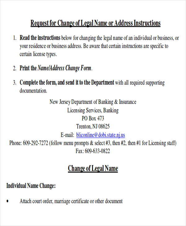 request business name change letter pdf