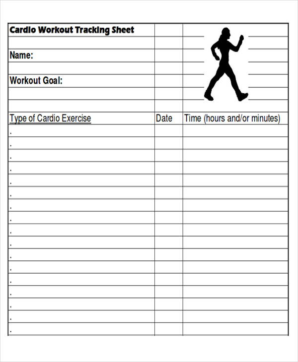 Fitness Logs  Printable Exercise And Diet Sheetsworkout Tracking