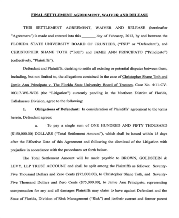 final signed settlement agreement pdf