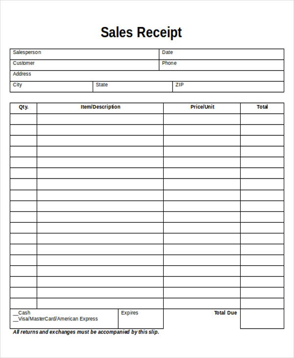 This is an image of Agile Printable Receipt Template