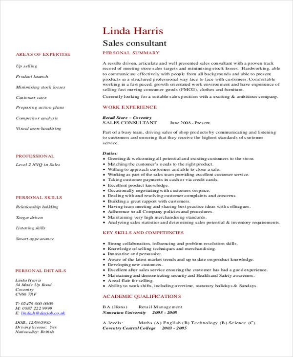 it consulting resume