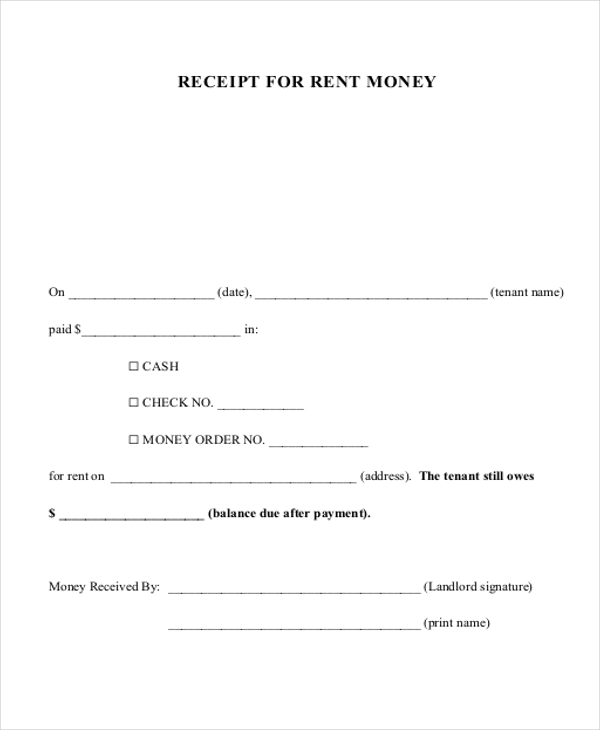 Free 8 Cash Payment Receipts In Ms Word Pdf