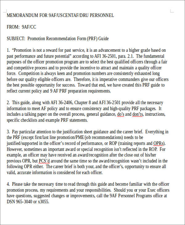 Air Force Policy Letter Template  Letter Template
