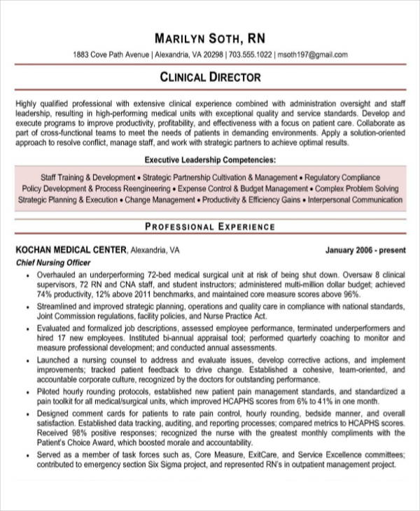 10  sample rn resume