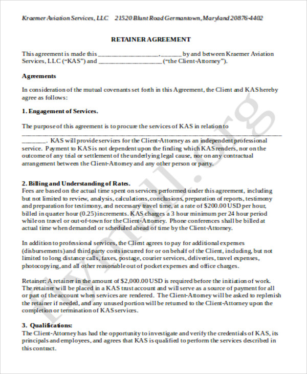 standard consulting agreement template - 9 sample consulting retainer agreements sample templates