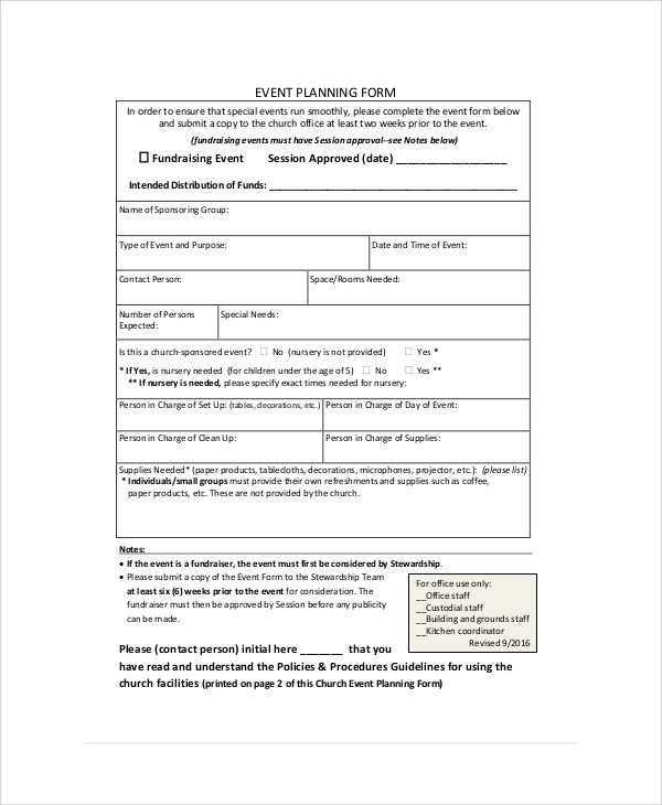 Sample Event Order Form   Examples In Word Pdf