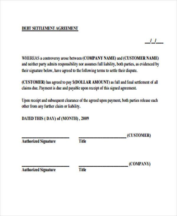 10+ Sample Settlement Agreement - Free Sample, Example, Format