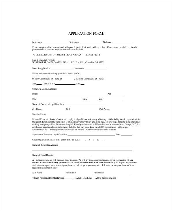 money order application form