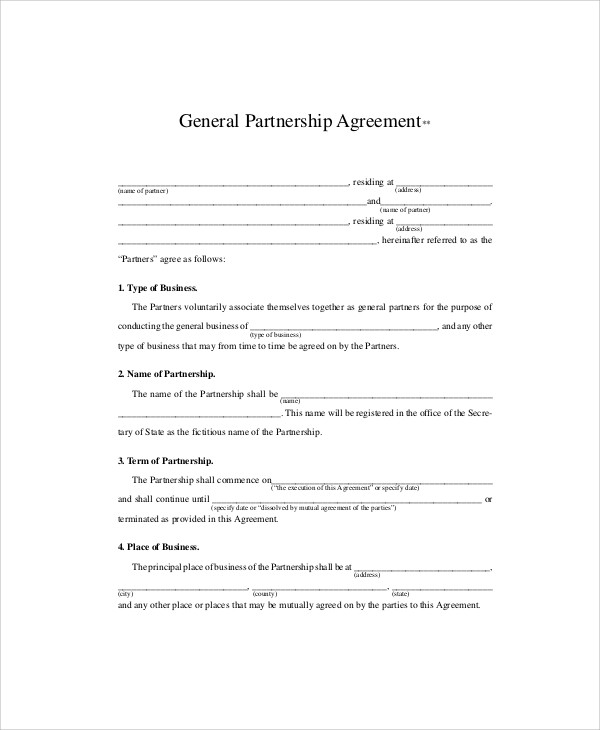 Sample Business Partnership Agreements In Pdf   Examples In Pdf