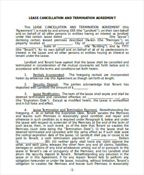 Commercial Lease Agreement Sample  Free Sample Example Format