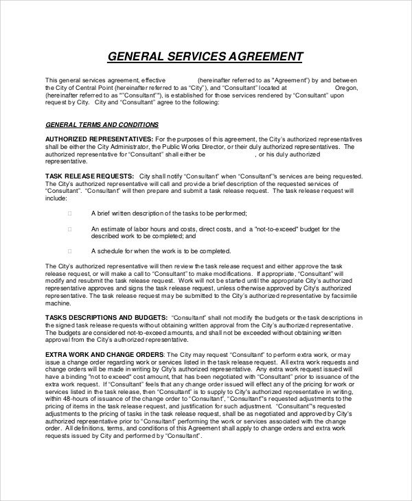 general services agreement contract