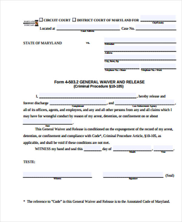 general waiver and release form pdf