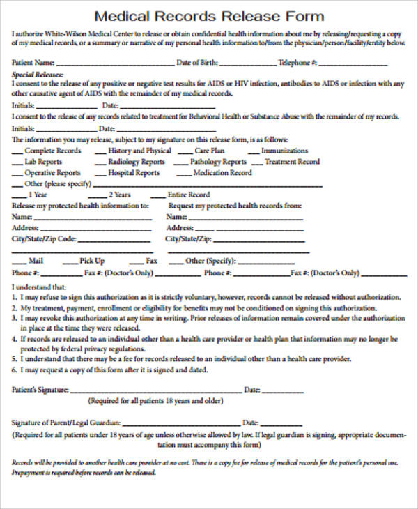medical records release form sample | lexu tk