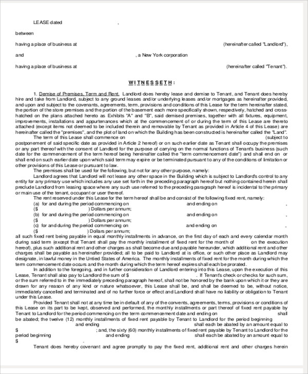 commercial lease renewal agreement in pdf