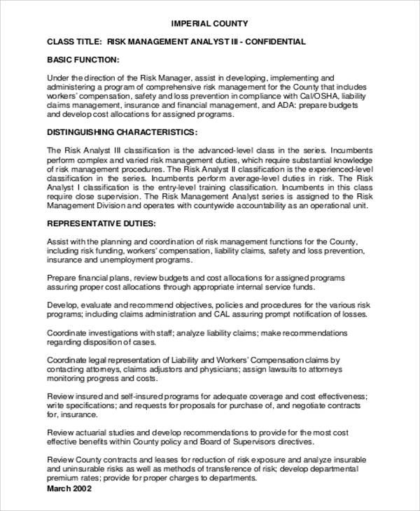 Management Analyst Job Description Sample - 9+ Examples In Word, Pdf