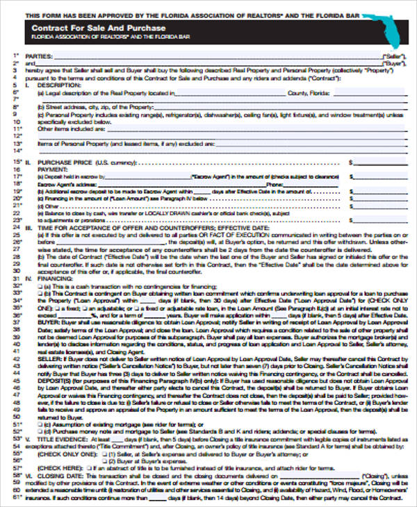 Sample Purchase Agreement Contract 8 Examples in Word PDF – Purchase Agreement Contract