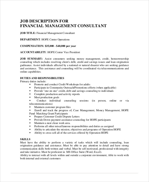 Resume Job Description For Residential Counselor